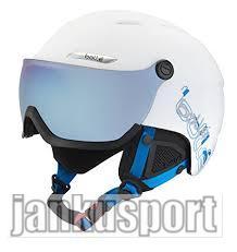 Bolle B-yond visor white a blue, (Lyžařská přilba Bolle)