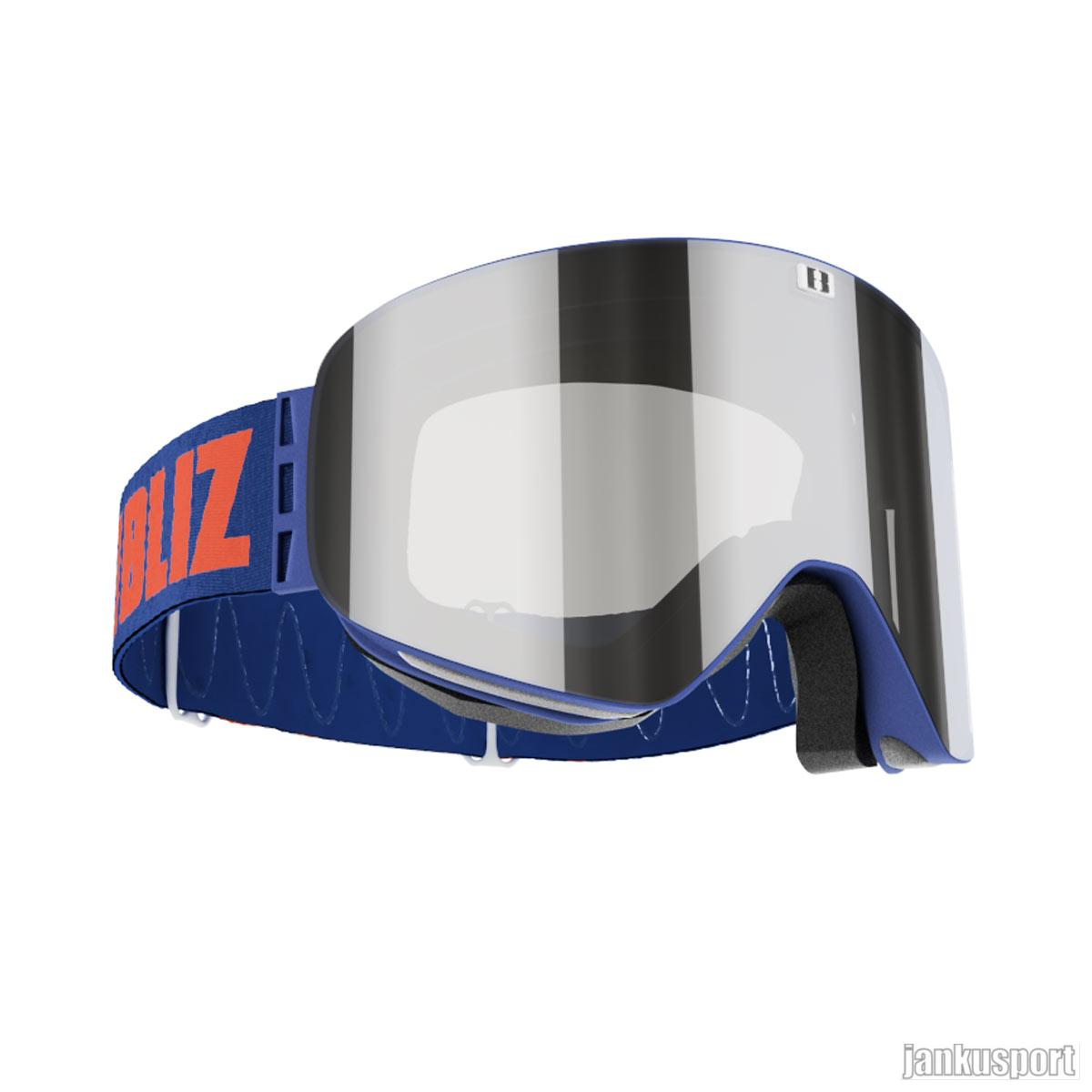 Bliz – Flow mark 14 Blue, Brown w Silver Mirror