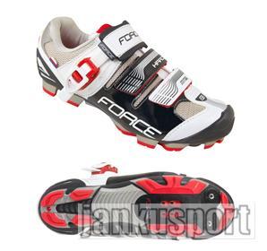 Force MTB Hard černo-bílé - Cyklistické tretry (Cyklistické tretry Force)