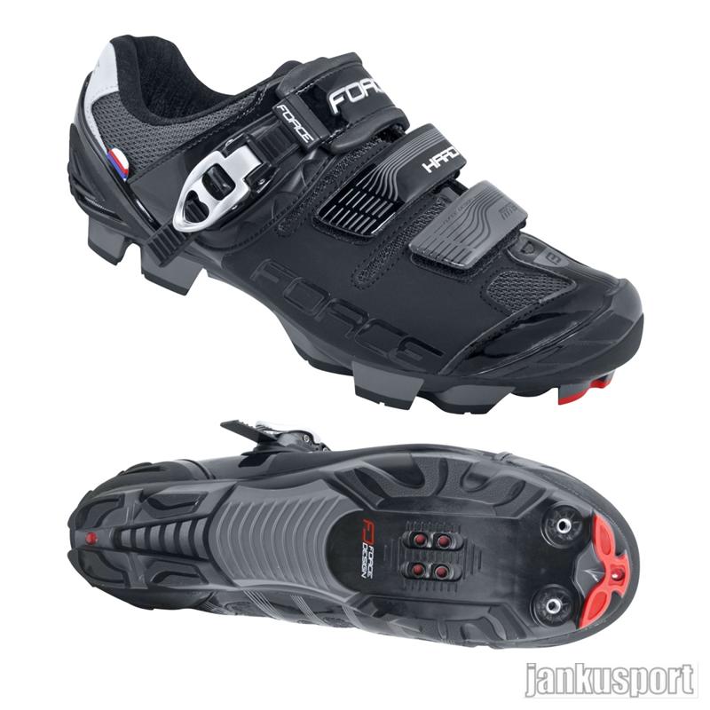Force MTB Hard černé - Cyklistické tretry (Cyklistické tretry Force)