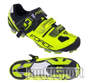 Force MTB Hard fluo černé - Cyklistické tretry (Cyklistické tretry Force)