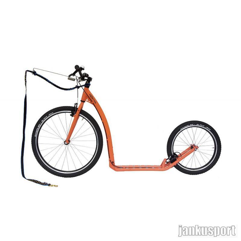 Koloběžka Kostka Tour max dog - Pastelově oranžová