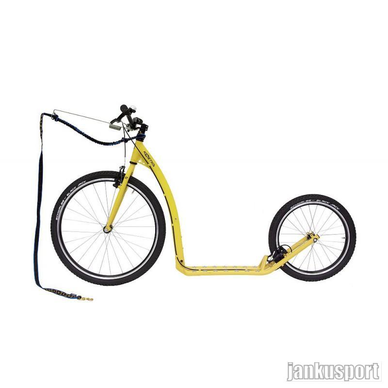 Koloběžka Kostka Tour max dog - Pastelově žlutá