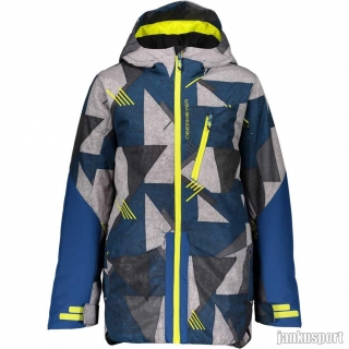 Obermeyer Gage Jacket retro graphic blues